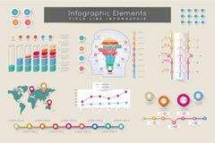 Infographic元素和通信概念 图库摄影