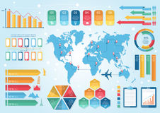 Infographic元素和通信概念 免版税库存图片