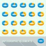 Infographic元素-圈子图 向量例证