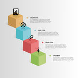 Infographic元素 3d多维数据集 向量 免版税库存图片
