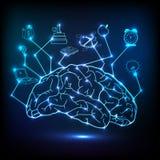 infographic创造性的脑子 免版税库存照片