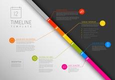 Infographic对角时间安排模板 免版税库存图片