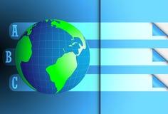 infographic抽象地球的设计 免版税库存图片