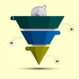 infographic抽象的三角 库存图片