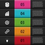 Infographic提高被编号的选择 黑色台阶 图库摄影