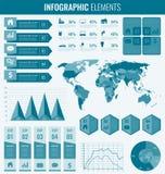 infographic收集的要素 事务和介绍的模板 图象infographics信息映射集合世界 向量 库存例证