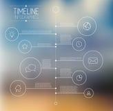 Infographic时间安排报告模板 免版税图库摄影