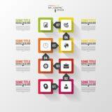 Infographic时间安排 设计现代模板向量 免版税图库摄影