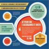 Infographic概念-企业计划-现代模板 免版税库存照片