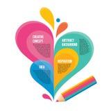 Infographic概念-创造性的设计-铅笔不适 向量例证