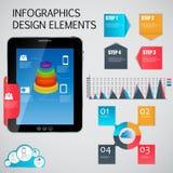 Infographic模板企业传染媒介例证 免版税图库摄影
