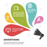 给infographic模板做广告 免版税图库摄影