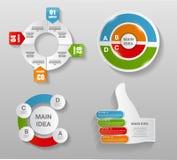 Infographic模板的汇集事务的 库存例证