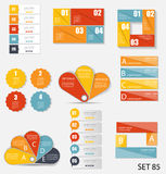 Infographic模板的汇集事务的 免版税库存图片