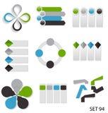 Infographic模板的汇集事务的 免版税库存照片