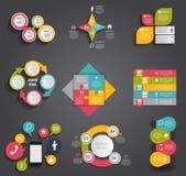 Infographic模板的汇集事务的 库存照片