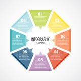 Infographic模板设计观念传染媒介 免版税图库摄影