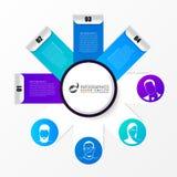 Infographic模板 与4个选择的企业概念 向量 免版税库存图片