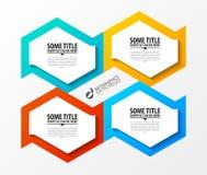 Infographic模板 与4个选择的企业概念 向量 免版税库存照片