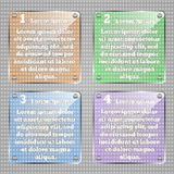 Infographic模板 传染媒介玻璃状方形的infographic元素 库存照片
