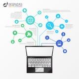 Infographic模板 抽象概念技术 向量 免版税库存照片