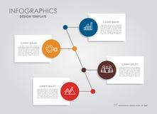 Infographic模板 能为工作流布局,图,企业步选择,横幅,网络设计使用 免版税库存图片