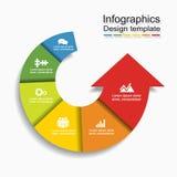 Infographic模板 能为工作流布局,图,企业步选择,横幅,网络设计使用 库存照片