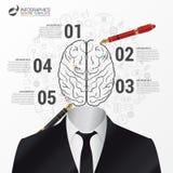 Infographic模板 脑子概念 商人 向量 图库摄影