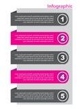 Infographic横幅设计要素 图库摄影