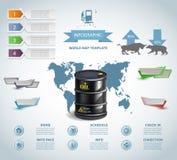 Infographic油桶企业模板设计 概念传染媒介 库存照片