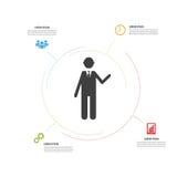 Infographic现代设计 与象的minimalistic传染媒介 免版税图库摄影