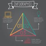 infographic的三角 图库摄影