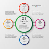 infographic的传染媒介元素 图、图表、介绍和图的模板 免版税库存照片