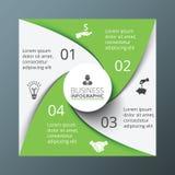 infographic的传染媒介螺旋正方形 免版税库存照片