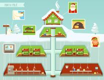 infographic的圣诞节 向量例证