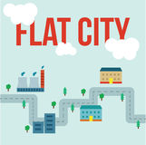 infographic的城市 免版税图库摄影