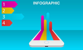 infographic的智能手机 免版税库存图片
