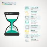infographic的消磨时间的人 免版税库存照片