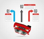 infographic的车 皇族释放例证