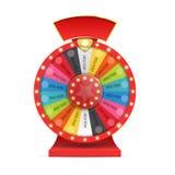 infographic的运气或的时运五颜六色的轮子  向量 库存照片