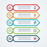 Infographic箭头与5个选择的设计模板 向量例证