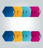 Infographic箱子图 也corel凹道例证向量 4步模板 库存照片
