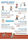 infographic能适应的体育 图库摄影