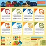 infographic议院的修理,设置了元素 免版税库存图片