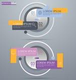 Infographic设计、介绍和图的传染媒介元素 免版税库存照片