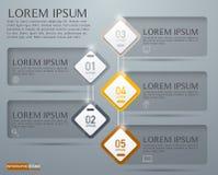 Infographic设计、介绍和图的传染媒介元素 免版税库存图片