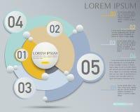 Infographic设计、介绍和图的,吸收传染媒介元素 免版税库存图片