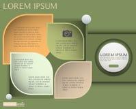 Infographic设计、介绍和图的,吸收传染媒介元素 免版税图库摄影