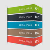 Infographic设计提高模板 也corel凹道例证向量 免版税库存图片