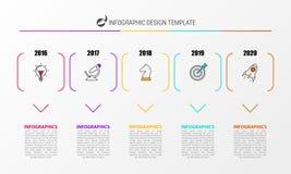 Infographic设计模板 与5步的创造性的概念 向量例证
